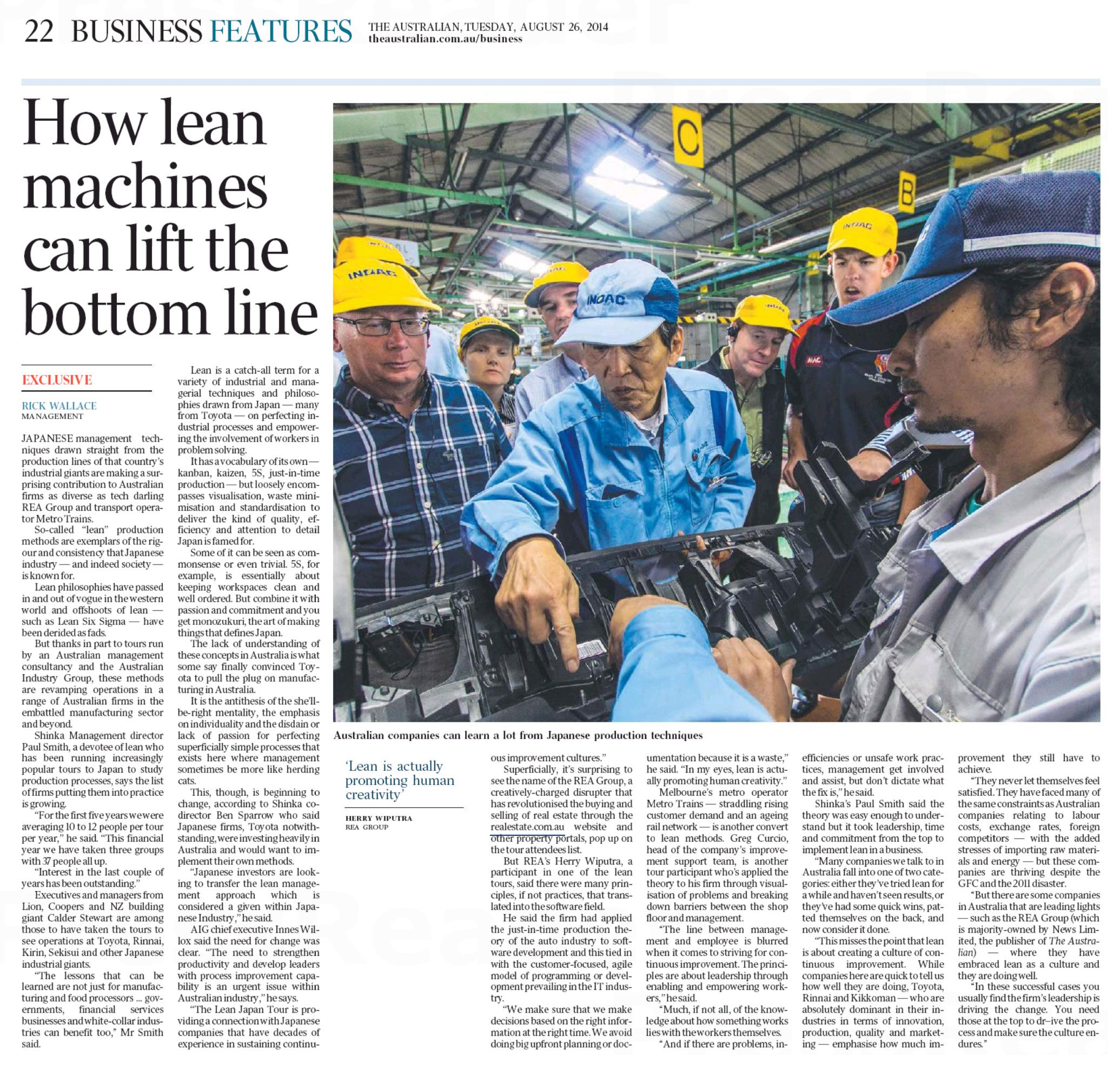 The Australian - How Lean Machines Can Lift the Bottom Line
