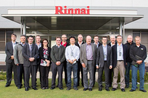 Rinnai Factory Tour Group Photo